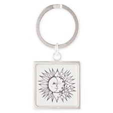sunmoon Square Keychain