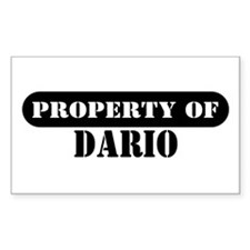 Property of Dario Rectangle Decal