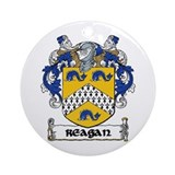 Reagan Coat of Arms Ornament (Round)