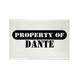 Property of Dante Rectangle Magnet (10 pack)