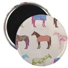 piColorful Horse Pattern Magnets