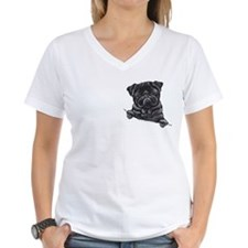 Black Pug Line Art Shirt
