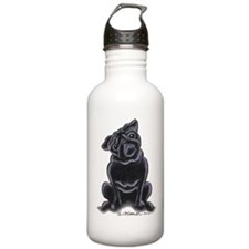 Black Pug Sit Pretty Water Bottle