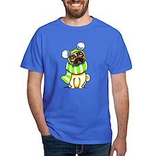 Pug Scarf Hat T-Shirt