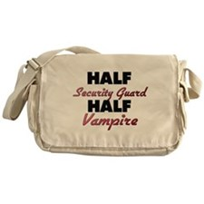 Half Security Guard Half Vampire Messenger Bag