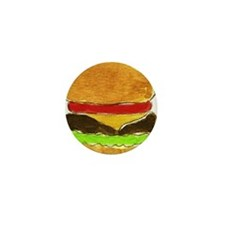 Hamburger Mini Button