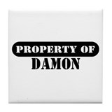 Property of Damon Tile Coaster