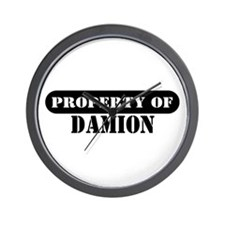 Property of Damion Wall Clock