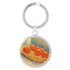 Van Gogh - Still Life with Basket a Round Keychain