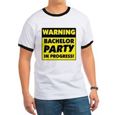 Warning Bachelor Party T