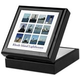 Rhode Island Lighthouses Keepsake Box
