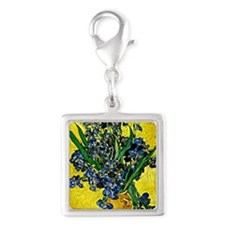 Van Gogh - Still Life with Ir Silver Square Charm
