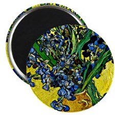 Van Gogh - Still Life with Irises Magnet