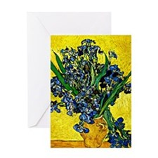 Van Gogh - Still Life with Irises Greeting Card