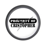Property of Cristopher Wall Clock