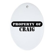 Property of Craig Oval Ornament