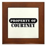 Property of Courtney Framed Tile