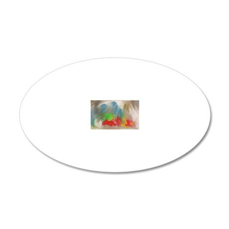 Abstract 1 Flipped 20x12 Oval Wall Decal