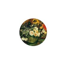 Van Gogh - Still Life with Roses and S Mini Button