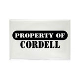 Property of Cordell Rectangle Magnet (100 pack)