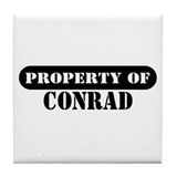 Property of Conrad Tile Coaster
