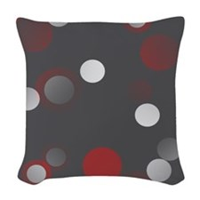 Polka Woven Throw Pillow