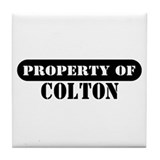 Property of Colton Tile Coaster