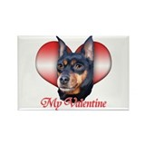 Min Pin Valentine Rectangle Magnet