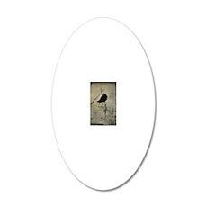Halloween Crow 20x12 Oval Wall Decal