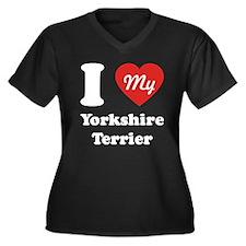 I Heart My Yorkshire Women's Plus Size V-Neck Dark