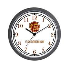 Cotton Belt Route Wall Clock