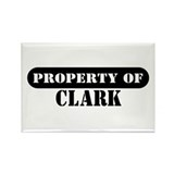 Property of Clark Rectangle Magnet (100 pack)