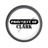 Property of Clark Wall Clock