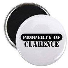 "Property of Clarence 2.25"" Magnet (100 pack)"