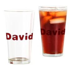 David Santa Fur Drinking Glass