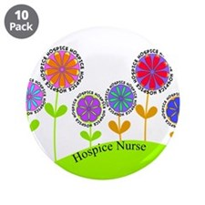 "Hospice Nurse BUCKET BAG 3.5"" Button (10 pack)"