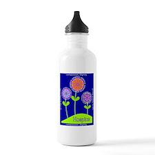 Hospice Blanket Flowers Water Bottle