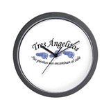 Tres Angelitos Wall Clock