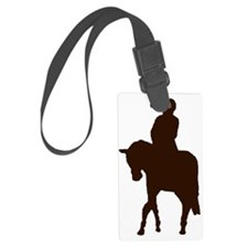 Little Girl Rider by Chevalinité Luggage Tag