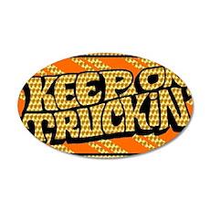 Keep on Truckin' retro desig 35x21 Oval Wall Decal