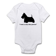 I OWN A VERY NICE PERSON Infant Bodysuit