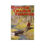 Hunter Trader Trapper Rectangle Magnet