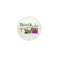 Book Aficionado Mini Button (10 pack)
