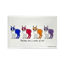 Boston Terriers Are a Work of Art Rectangle Magnet
