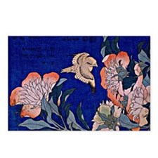 Hokusai - Canary and Peon Postcards (Package of 8)