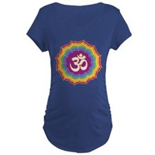 Seven Chakras Colors Maternity T-Shirt