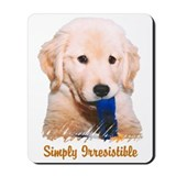 Golden Retriever &quot;Simply Irresistible&quot; Mousepad