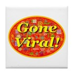 Gone Viral Tile Coaster