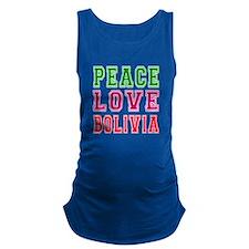Peace Love Bolivia Maternity Tank Top