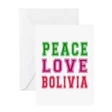 Peace Love Bolivia Greeting Card